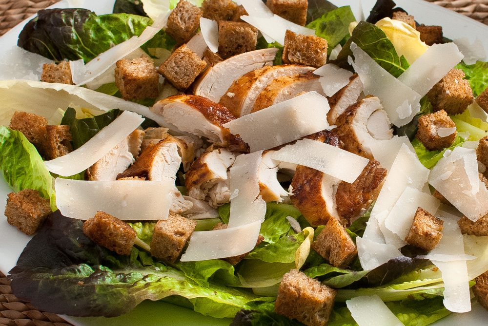 Roasted Garlic Chicken Sausage Caesar Salad Recipes — Dishmaps
