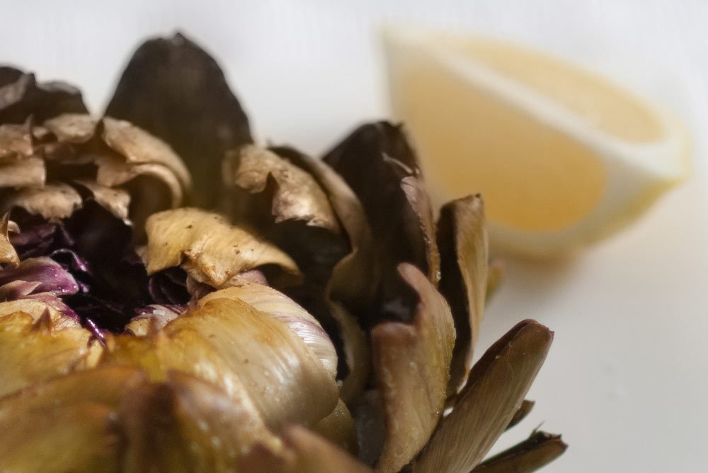 'Coming home from Sicily and Pops rustles some artichokes up to eat with the family... '