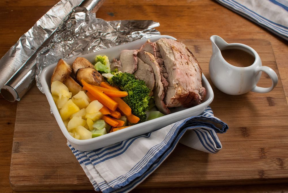Here is a real-life example of how to use a Sunday roast dinner leftovers through the week...