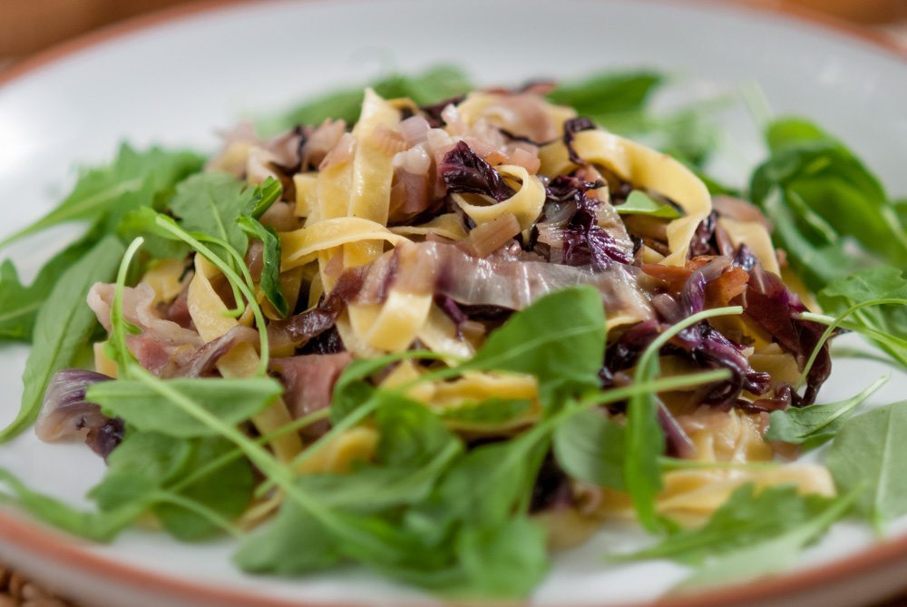 'It's pretty obvious now but anything pasta based makes me very happy. Radicchio is a new craving too...'