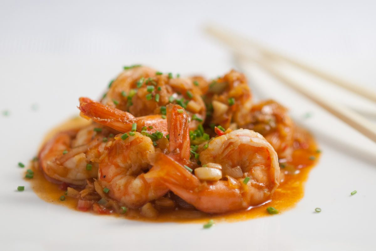 'So good. Dad's been cooking prawns his whole life, but Ken Hom's Sichuan style prawns have been more than an inspiration...'