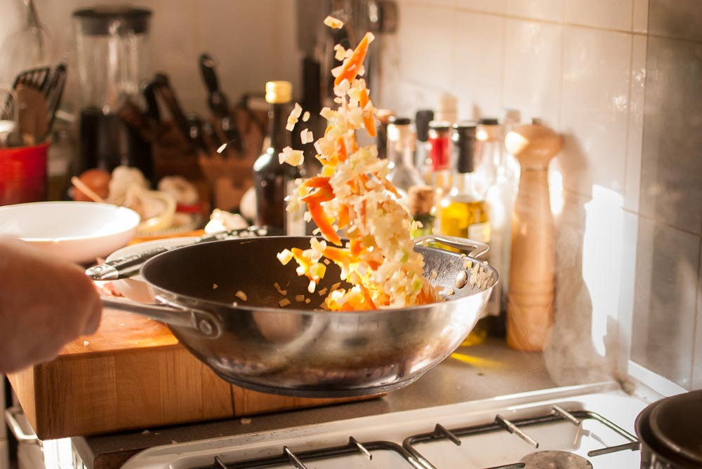 'Wok stir-frying poses plenty of challenges. I have developed my own strategies to help...'