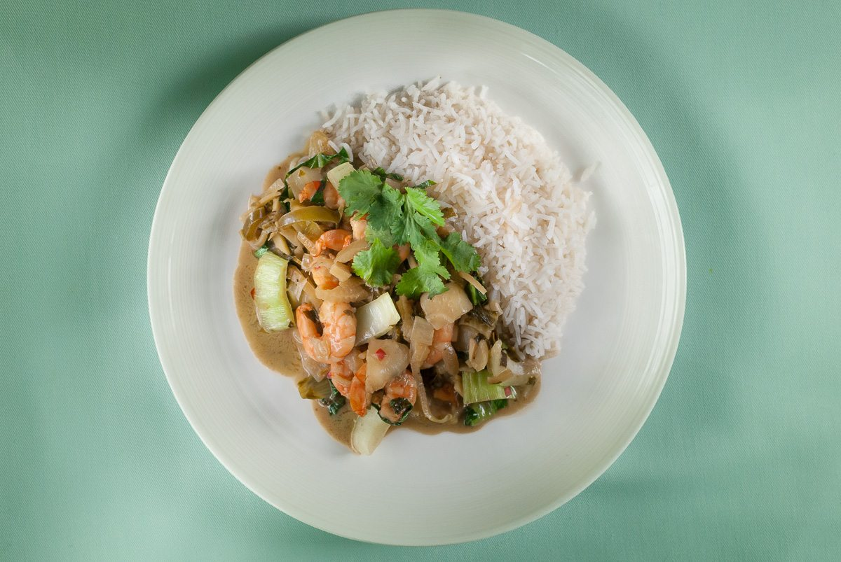 'One of the best Thai Green Prawn Curries I've had and packed full of Thai flavours. It's a simple dish, and a quick one to rustle up after work for the family.'