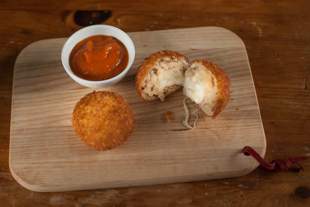 'Arancini balls inspired by our favourite Italian crime show, Inspector Montalbano!'