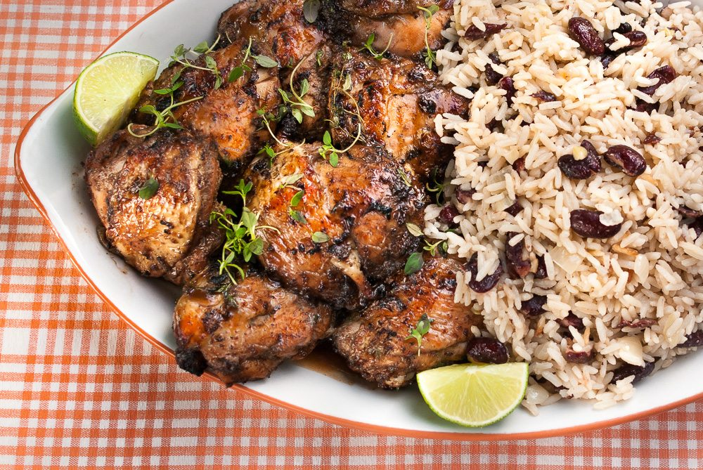 'Maybe it's the wrong time of year in the UK for a BBQ... What?! No way! BBQ anytime of the year, with this awesome, easy Jerk Chicken with Rice and Peas.'