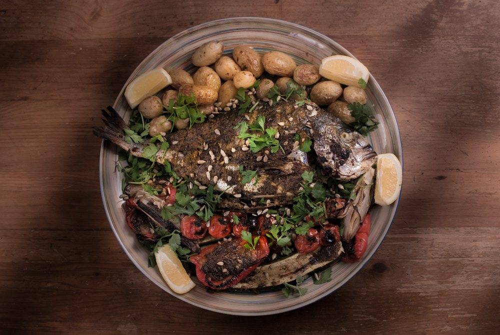 Chermoula is a North African marinade and sauce. It tastes great and is very versatile - like a spicy salsa verde that can be used for roasting any fish and white meat.