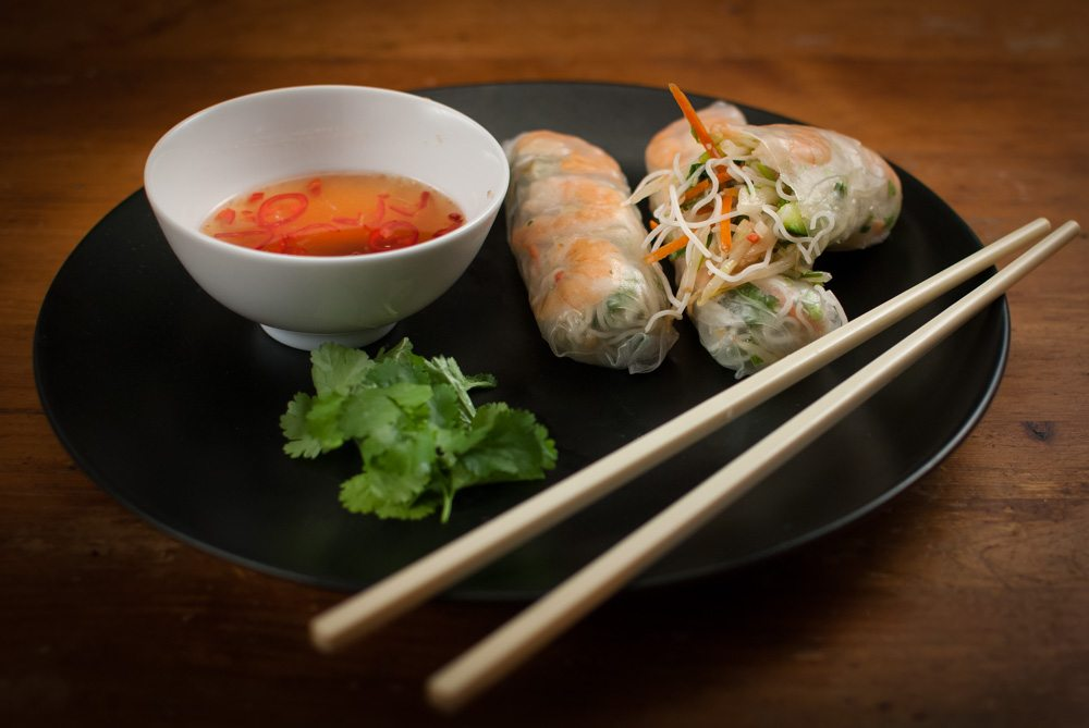 Dad's Vietnamese summer rolls with nuoc cham dipping sauce is a must learn. A tasty salad in a roll just waiting to be dipped in a beautiful nuoc cham!