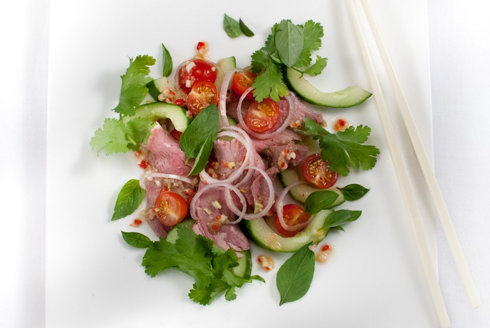 This is an authentic take on a famous Thai dish. As it is it makes a great starter or light lunch or supper. But you can bulk it out with rice noodles, pak choi and beansprouts if you want to make a more filling complete meal.