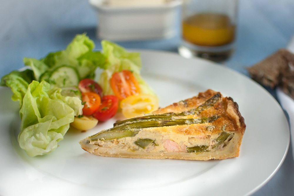 The boys are not keen on quiche - but I cannot see what is not to like. Besides putting asparagus in a quiche is a good way to enjoy the asparagus season.