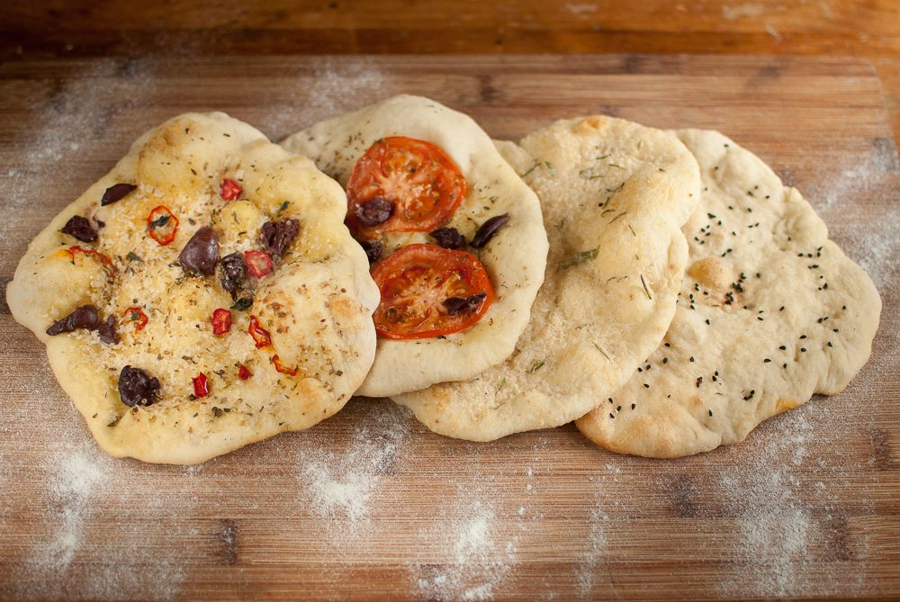 Inspired by our pizza masterclass at Franco Manca's, I thought I would have a go at making a quicker flatbread.