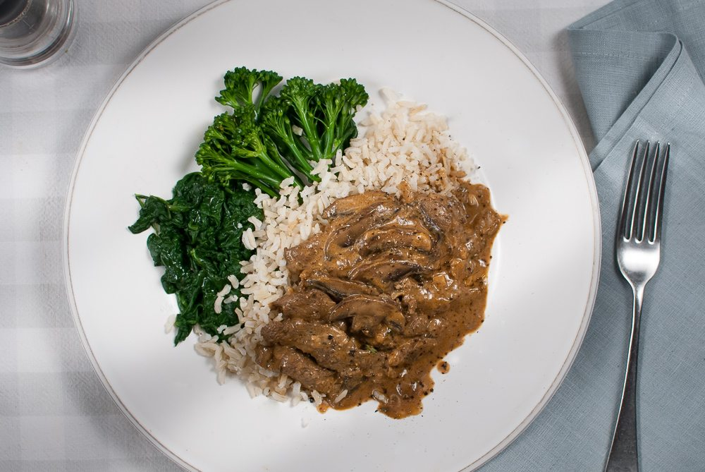 A traditional Stroganoff recipe. Don't scoff because it's a recipe from the prawn cocktail era, it's still a good recipe, One everybody should learn.