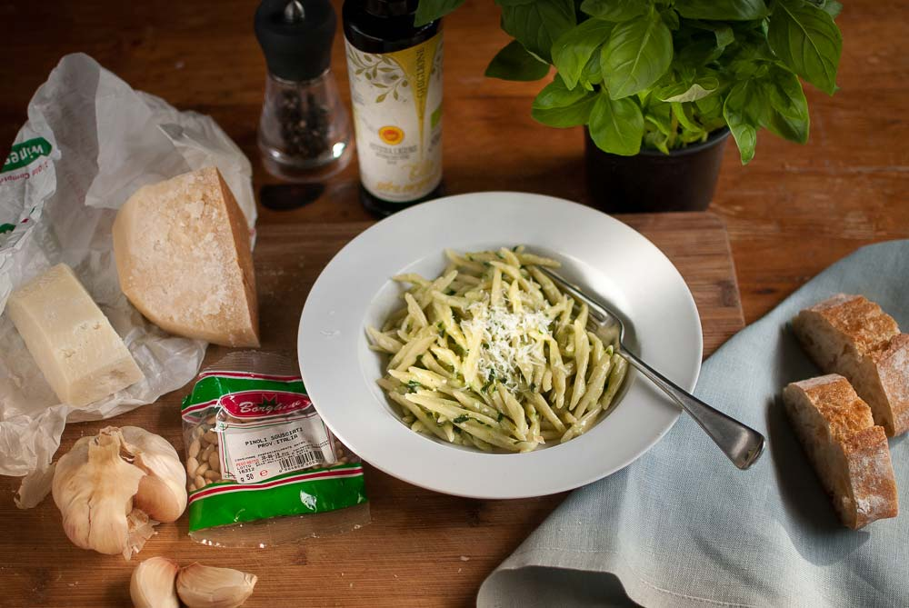 I've gone out guns blazing to try to find the perfect recipe for pesto. Well, it may not be perfect, but without a trip to Genoa, it's the closest I'll ever get to eating an authentic pesto alla Genovese...