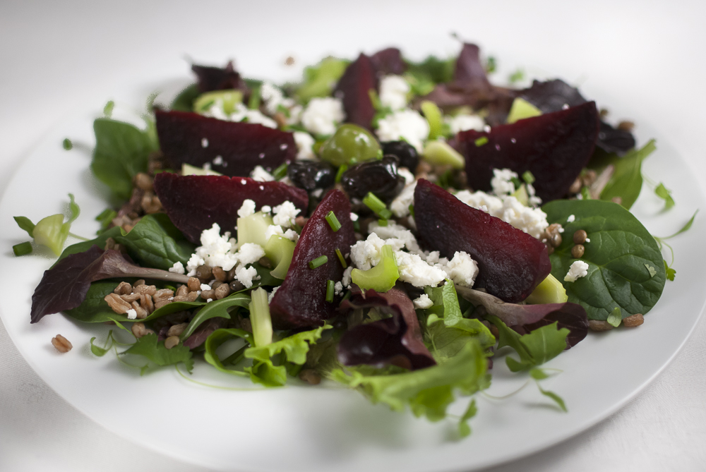 You can't go wrong with beetroot and goats cheese - so I make no apologies for another version of this tasty combo.