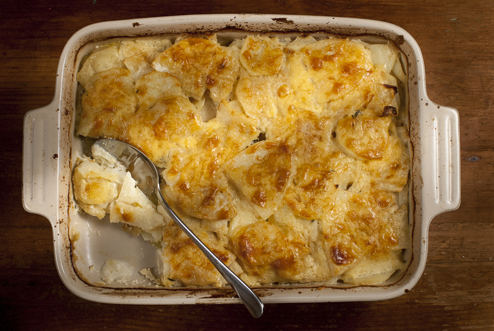 Celeriac and potatoes have a wonderful affinity, but the real delight of this recipe Cyprus potatos - their nutty taste and texture is perfect in a gratin.