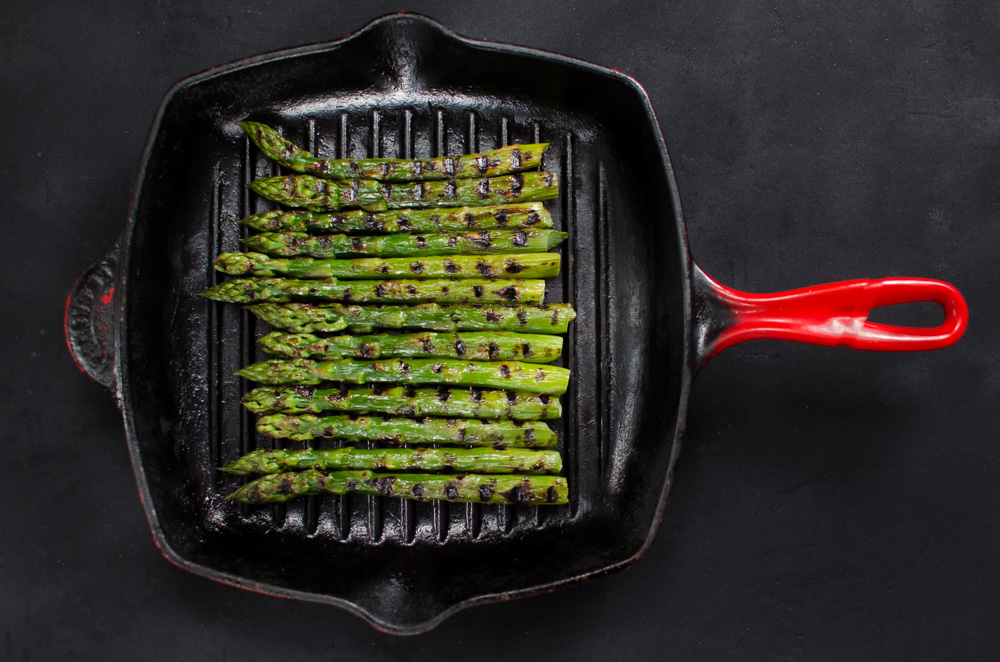 This is not really a recipe, more a method for grilling or griddling your asparagus.