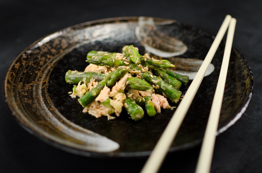It's a Japanese way to mix sesame sauces in with food - I suspect the reason is because the sauce is so good it can't help being slipped into all sorts of dishes...