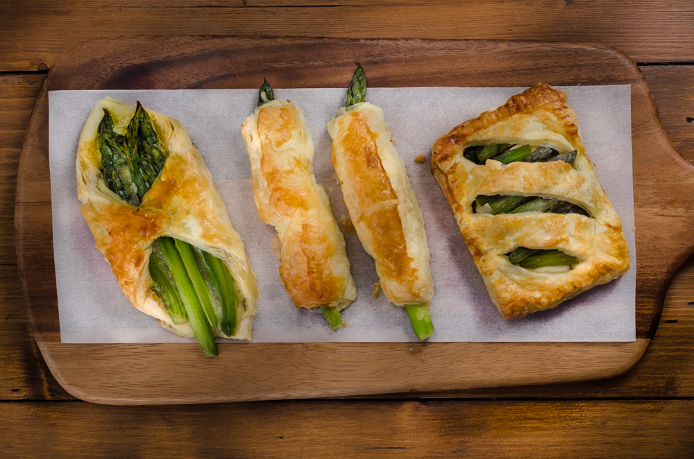 Asparagus and Cheese Pastry Parcels