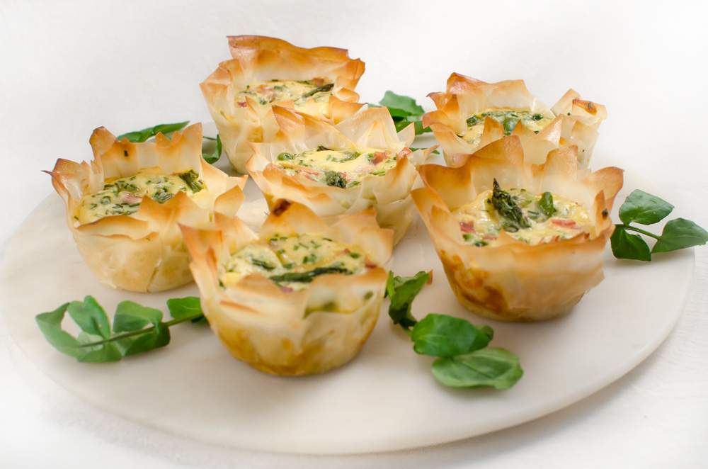 These little quiches are full of spring vegetables, served with a salad they would make a brilliant lunch or light supper.