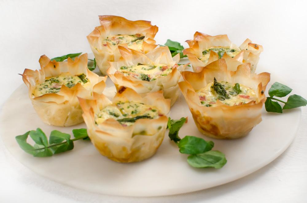 Asparagus Filo Tartlets