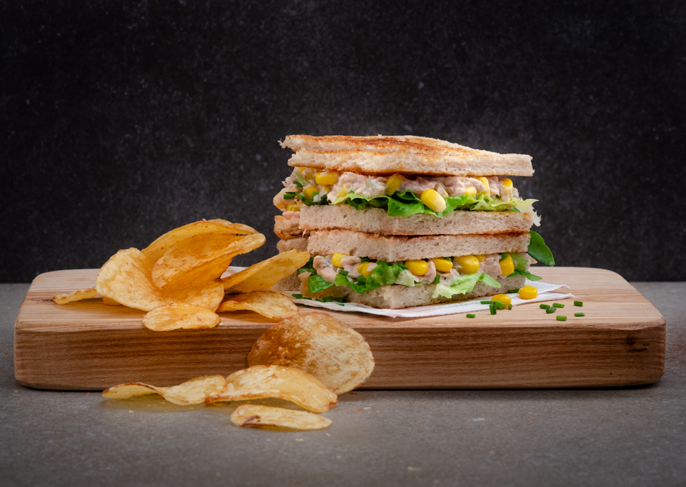 This is a spin on the classic tuna sandwich. It has added sweetcorn - and is all the better for it!