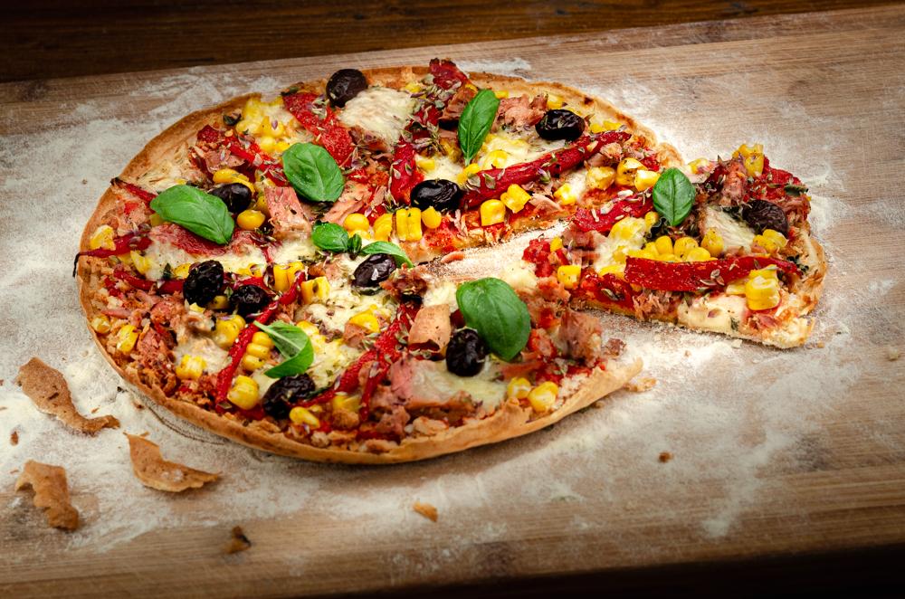 Tuna & Sweetcorn Pizza in a Pan
