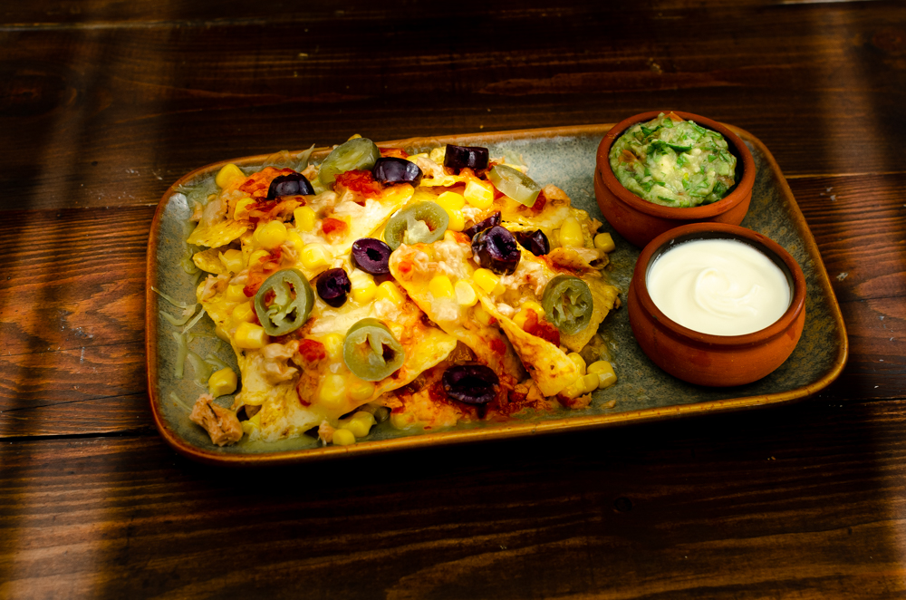 Tuna and Sweetcorn combine brilliantly when made into nachos.